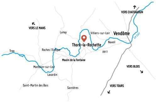 Carte de la Vallée du Loir